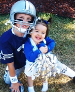 Dallas Cowboys Player and Cheerleader Kids Costumes