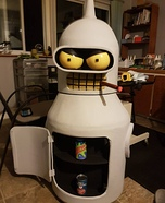 Dancing Bender Mascot Suit Homemade Costume