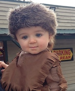 Cute baby costume ideas: Daniel Boone Homemade Costume
