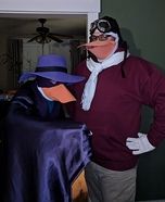 Darkwing Duck and Launchpad McQuack Homemade Costume