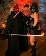 Darth Maul and Darth Vader Homemade Costume