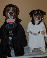 Darth & Leia Dogs Costumes
