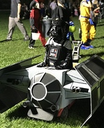 Darth Vader with his Tie Fighter Ship Homemade Costume