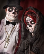 Day of Dead Couple Homemade Costume