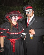 Day of the Dead Couple Halloween Costume