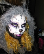 Day of the Dead Cat Homemade Costume