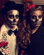 Day of the Dead Couple Homemade Costume