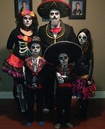 Day of the Dead Family Homemade Costume