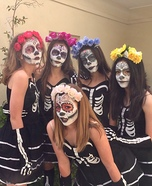 Day of the Dead Group Homemade Costume