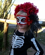 Day of the Dead Skeleton Girl Homemade Costume