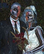 Couples Halloween costume idea: Dead Bride and Groom Couple Costume