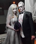 Dead Bride and Groom Homemade Costume