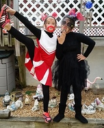 Dead Cheerleader and Dead Widow Homemade Costumes