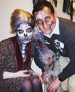 Dead Norman Bates and Mother from Psycho Homemade Costume