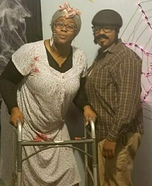 Dead Old Couple Homemade Costume