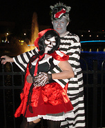 Dead Red and Convict Wolf Couples Costume