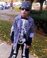 Dead Skeleton Gangster Homemade Costume