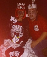 Deadly King and Queen of Hearts Homemade Costume