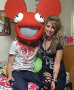Homemade Deadmau5 and Ke$ha Costumes
