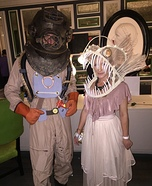 Deep Sea Diver and Angler Fish Homemade Costume