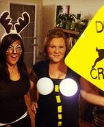 Deer in Headlights Homemade Costume