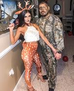 Deer & Hunter Homemade Costume