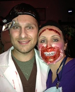 Couples Halloween costume idea: Demented Dentist and his First Patient