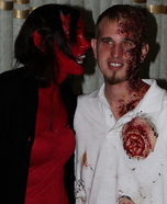 Homemade Devil and Burning Soul Costume