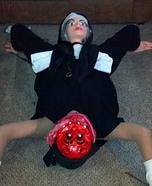 Devil being born by a Nun illusion costume
