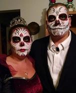 Dia de los Muertos Bride and Groom Homemade Costume