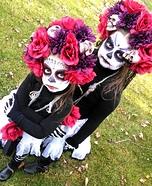 Dia de los Muertos Chicas Homemade Costume