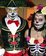 Dia de Los Muertos Chicos Homemade Costume