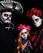 Dia de Los Muertos Familia Homemade Costume