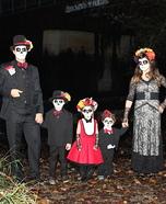 Dia de los Muertos Family Homemade Costume