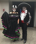 Dia de los Muertos Folklorico Dancers Homemade Costume