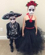 Dia de los Muertos Kids Homemade Costumes
