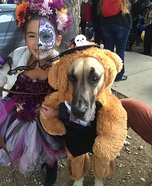 Dia de los Muertos Wedding Dog Homemade Costume
