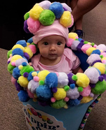 Cute baby costume ideas: Dippin' Dots Homemade Costume