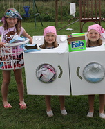 Dirty Clothes, Dryer and Washing Machine Costumes
