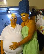 Dirty Marge n Homie Simpson Homemade Costume