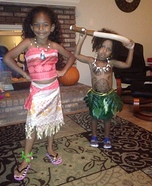 Disney Princess Moana and Demigod Maui Homemade Costume