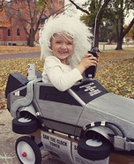 Doc Brown and his DeLorean Homemade Costume