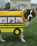 Dog School Bus Homemade Costume