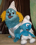 Creative costume ideas for dogs: Smurfette Dog Costume