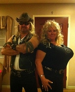 Dog The Bounty Hunter and his wife Beth Costume