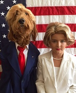 Dogald Trump & Hillary Homemade Costume