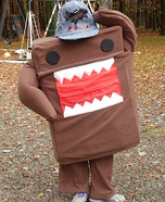 Homemade Domo Mascot Costume