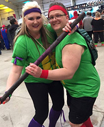 Donatello and Raphael Couple Homemade Costume