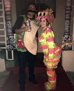 Pinata and Taco Couple Homemade Costume