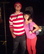 Coolest couples Halloween costumes - Dora found Waldo Couple Costume